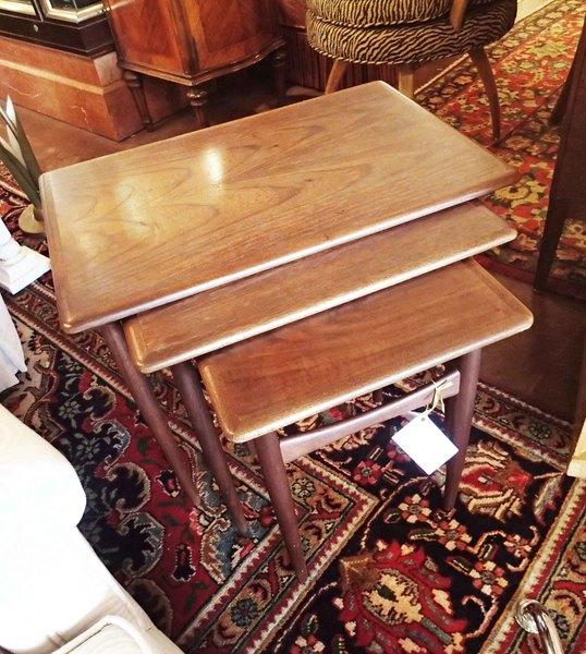 Midcentury Walnut Nesting Tables
