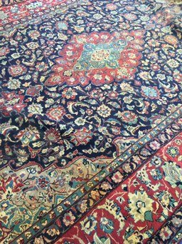 Oversized Vintage Persian Style Area Rug