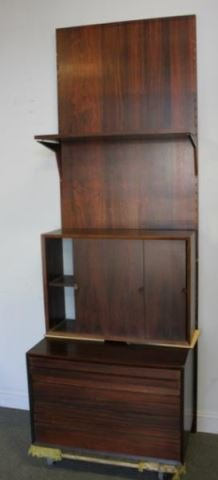 Mid-Century / Danish Rosewood Wall Unit with Drawers, Cabinet and Shelves