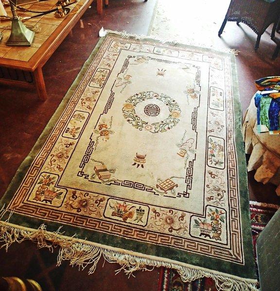 Oriental Silk Rug, 4 x 5