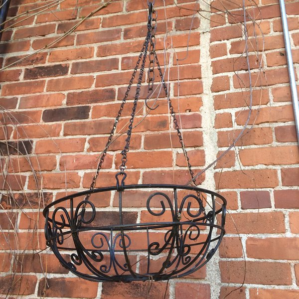 Wrought Iron Hanging Plant Basket