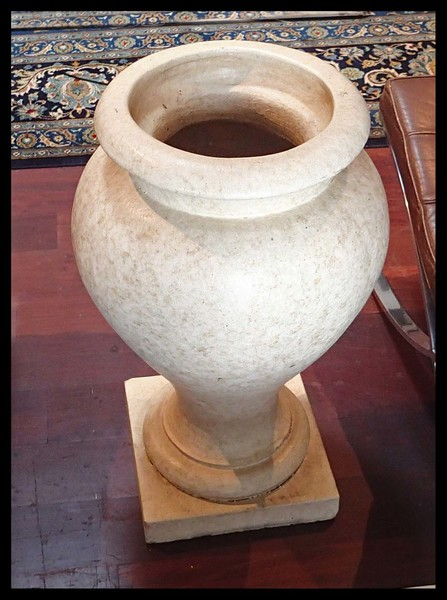 Art Deco Antique Large Glazed Terra Cotta Urn Circa 1910