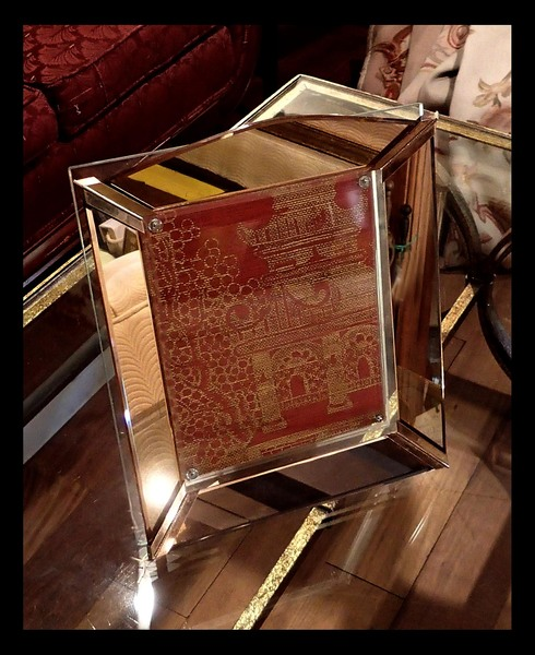 French Art Deco Mirrored Frame with Matching Plateau
