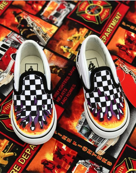vans slip on custom