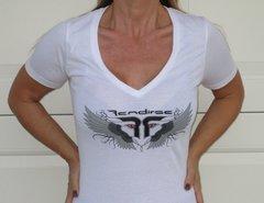 Women's - Shirt - Rendirse - V Neck White