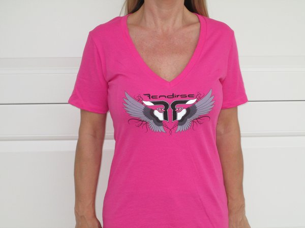 Women's - Shirt - Rendirse - V Neck Pink