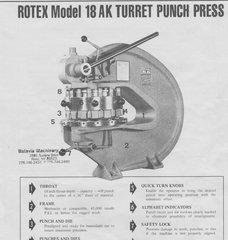 ROTEX TURRET PUNCH MDL 18AK, 18C, 20C
