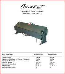 PEXTO CONNECTICUT UNIVERSAL BENCH BRAKE BOOK