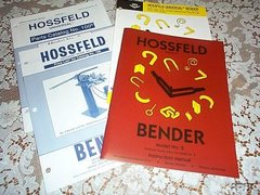 Hossfeld #2 Parts and operation Booklet