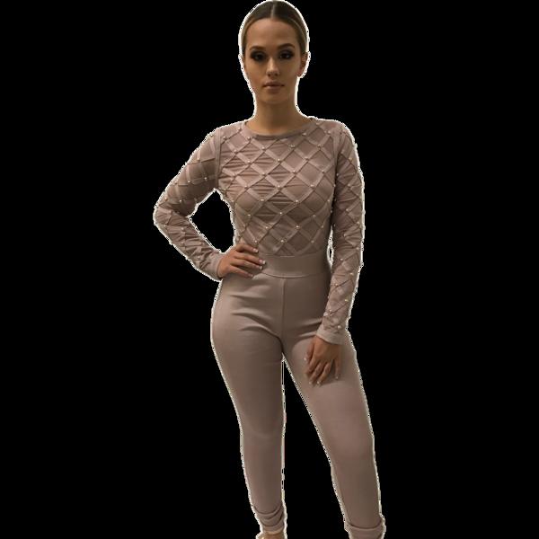 Alyssa Muave Bandage Jumpsuit