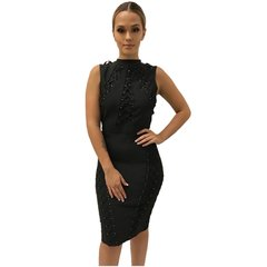 Joanna Black Bandage Dress