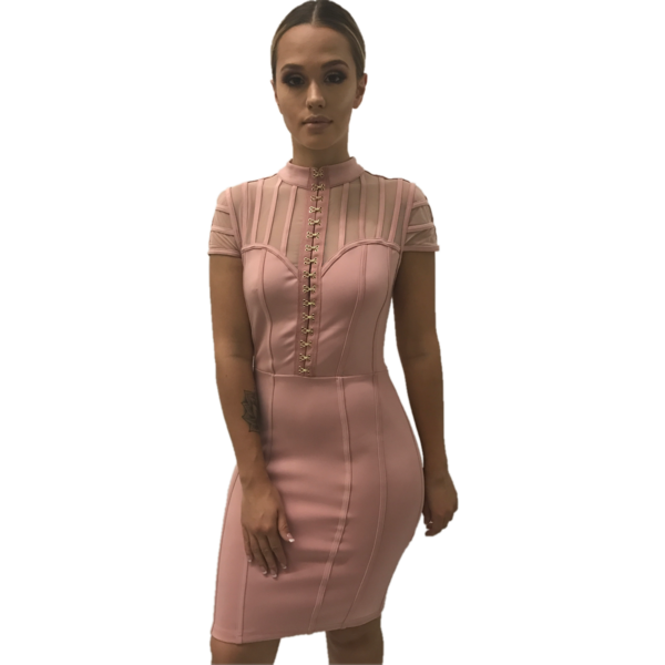 Hannah Blush Corset Dress