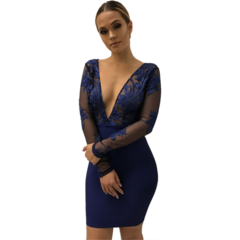Luna Purple Bandage Dress
