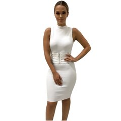 Julianna White Waist Corset Bandage Dress