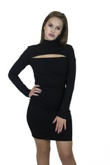 Black LSLV Mini Dress
