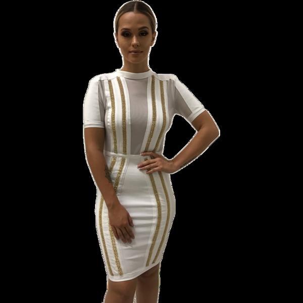 Kylie White Bandage Dress