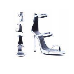 Sophine Silver Sandal Heels
