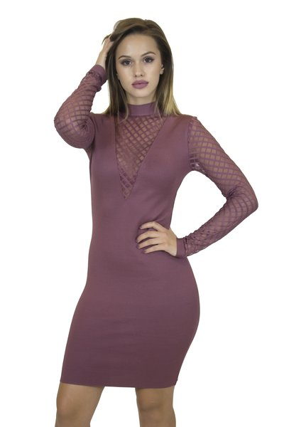 Alba Dusty Rose Bandage Dress