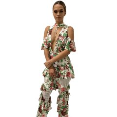 Catalina White Floral Jumpsuit