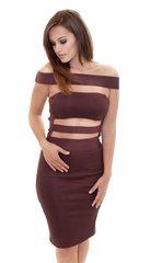 Darla Wine Bandage Dress