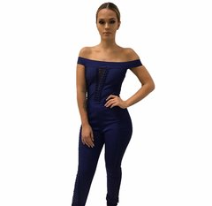 Chloe Purple Off The Shoulder Bandage Jumpsuit