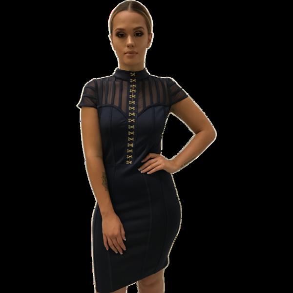 Hannah Navy Corset Dress