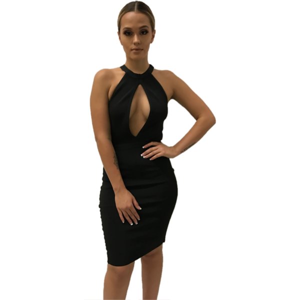 Emilianna Black Bandage Dress