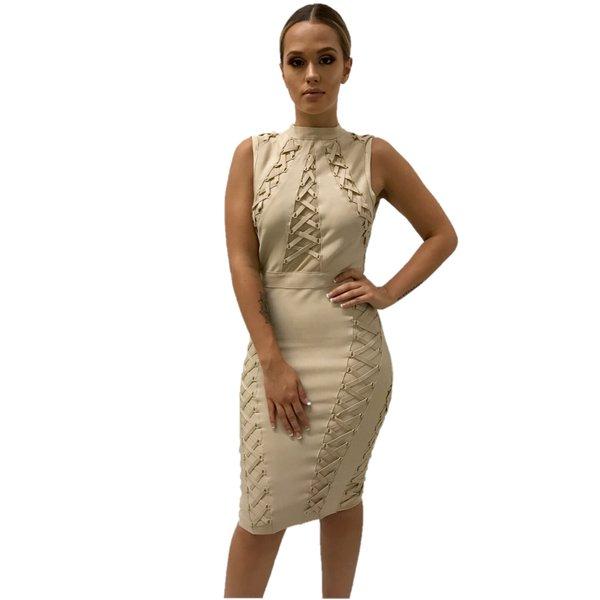 Joanna Taupe Bandage Dress