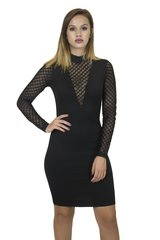 Alba Black Bandage Dress
