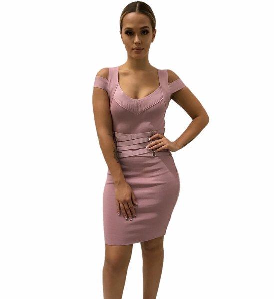 Jocelyn Blush Waist Corset Dress