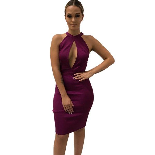 Emilianna Magenta Bandage Dress