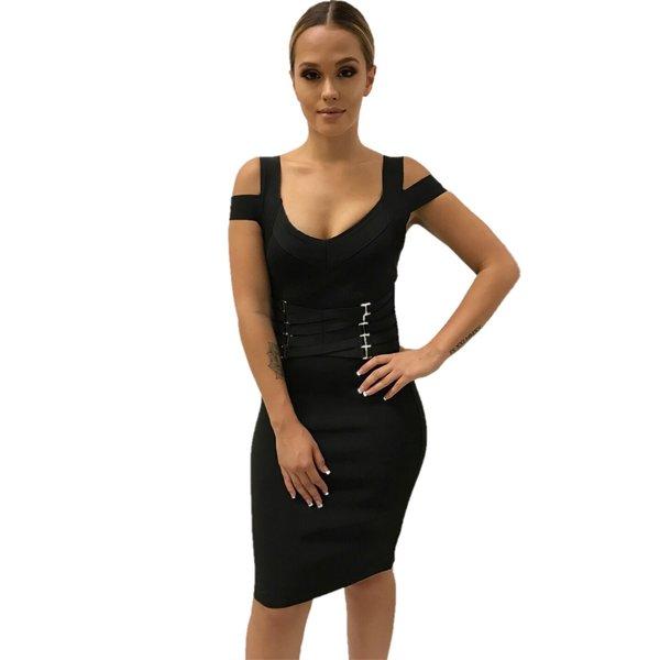 Jocelyn Black Waist Corset Dress