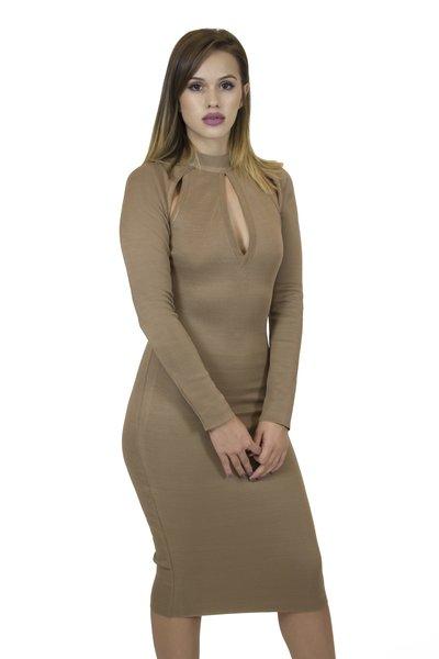 Eden Gold Bandage Dress