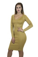 Cassidy Mustard Bandage Dress