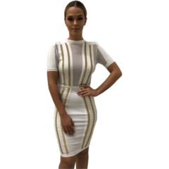Kylie White Bandage Dress