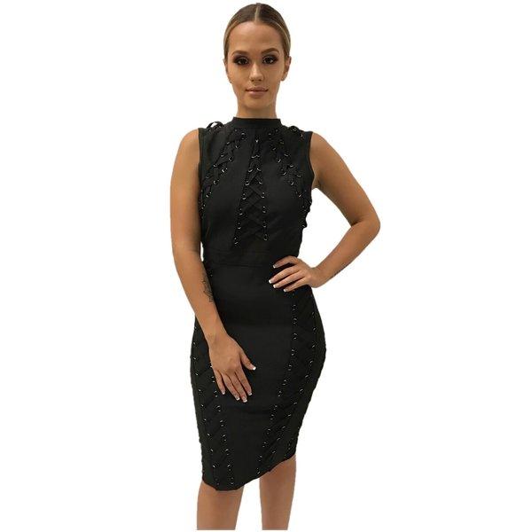 Joanna Black Bandage Dress