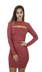 Rust LSLV Mini Dress