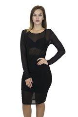 Black L/S Mesh Dress