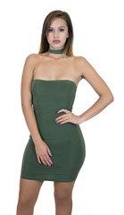 Olive Choker Mini Dress