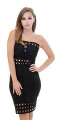 Black Strapless Bandage Dress