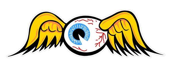 36 Quot Wide Flying Eyeball Vintage Drag Racing Window Sticker