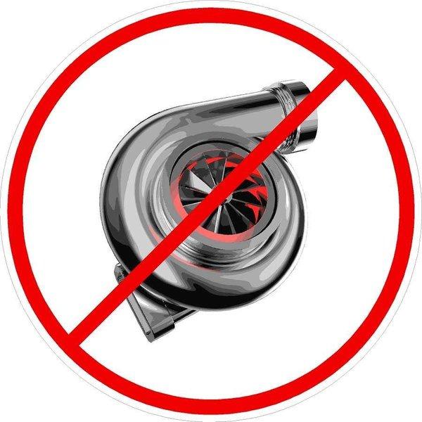 No Turbo Drag Racing Sticker Decal Nitrous Oxide Street