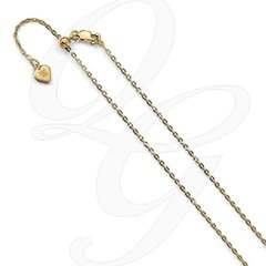 "22"" Adjustable Sterling Silver Yellow Gold Plated Chain"