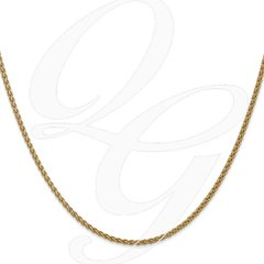 14K Solid Yellow Gold Polished Spiga Chain - Non-Adjustable