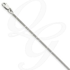 Curb Sterling Silver Chain - Non-Adjustable