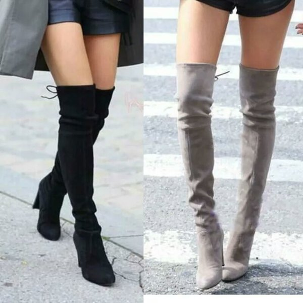 Over the knee Suede boots 7 colors | Spoiled Rotton