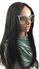 Handmade Micro Twist Braided Wig Color 1 Black, 26 Inches