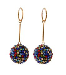 Multi Color Disco Ball Dangle Earring Set
