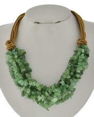 Green Stone Strand Necklace