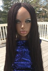 Handmade Micro Twist Braided Wig Color 99J, 30 Inches